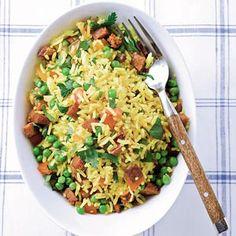 Gele rijst met chorizo - Recept - Allerhande - Albert Heijn