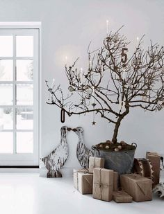 Decorazioni in stile nordico e provenzale in una casa danese. #home #homedecor #christmas