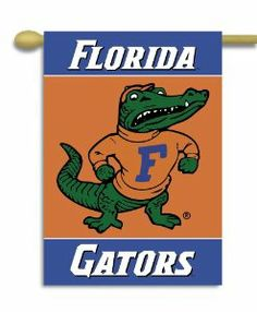 NCAA Florida Gators 2-Sided 28-by-40 inch House Banner Albert Logo with Pole Sleeve by BSI. $16.09. Officially licensed NCAA Collegiate product.. Screen printed design. 28 by 40 inches. Two sided with liner. 3 inch pole sleeve. Support your favorite team by hanging up this two-sided Collegiate premium 2-sided banner. This 28 by 40 inch banner is made of durable, heavy-duty 150-denier polyester and has a 3-inch pole sleeve so it is easy to hang. The officially licensed banner...