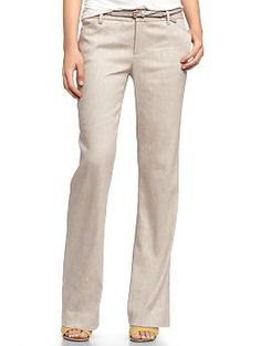 Perfect trouser linen pants | Gap. Ordered these, despite some less than stellar reviews. We'll see.