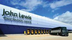 John Lewis' delivery centre in Milton Keynes Data Architecture, Factory Architecture, Pavilion Architecture, Industrial Architecture, Warehouse Project, Warehouse Design, Warehouse Logistics, Supply Chain Solutions, Factory Design