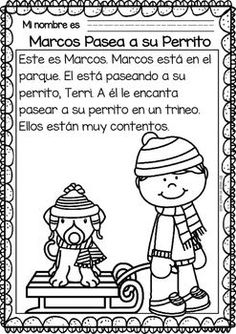 Easy Reading for Reading Comprehension in Spanish - January Set Spanish Lessons For Kids, Spanish Teaching Resources, Spanish Lesson Plans, Reading Comprehension For Kids, Reading Passages, Spanish Teacher, Spanish Classroom, Learn To Speak Spanish, Learning Sight Words