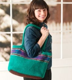 Felted Knit Tote Pattern from Country Woman Magazine