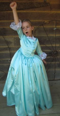 Hamilton Schuyler Sisters Modest Halloween Costume ~Eliza~ Child Size 10/12