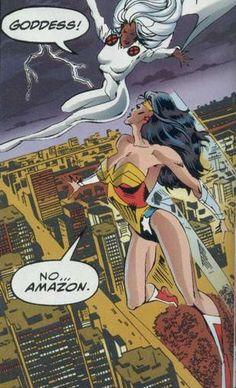 Storm vs Wonder Woman: Marvel vs DC 1996