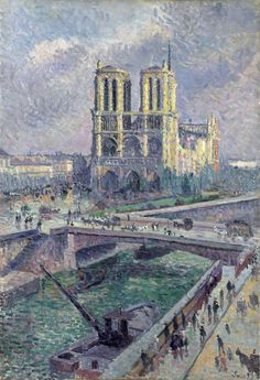 Notre Dame by Maximilien Luce from Minneapolis Institute of Arts