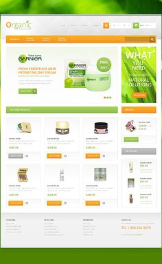 Organic Store Prestashop Template comes with a responsive bootstrap framework for making cosmetics stores and beauty ecommerce websites Organic Online Store, Cosmetic Web, Eco Store, Nutrition Drinks, Organic Makeup, Natural Solutions, Natural Cosmetics, Organic Recipes, Web Design