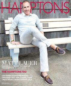 Memorial Day Hampton's Cover with Matt Lauer. Shot in Sag Harbour!