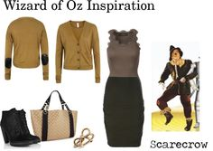 Wizard of Oz Inspiration - Scarecrow, created by icebubbletea on Polyvore