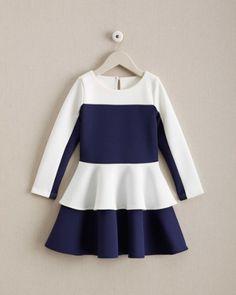 Girls Bold Peplum Dress