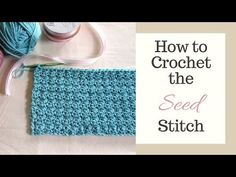 This video shows you how to crochet the seed stitch. The seed stitch is worked by making alternating single crochet (sc) & double crochet (dc) stitches. Crochet Baby Sweater Pattern, Baby Sweater Patterns, Crochet Slipper Pattern, Crochet Flower Patterns, Crochet Baby Hats, Crochet Slippers, Easy Crochet, Ribbed Crochet, Dog Crochet