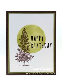 Happy Birthday Card, Lovely As a Tree, hand stamped, Happy Birthday Cards, Hand Stamped, Stampin Up, Sweet, Blog, Blogging, Anniversary Cards