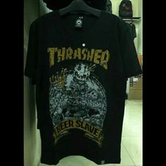 T-Shirt THRASHER  Size : M L ( USA Size ) Bahan : Cotton Combed 30s              : BodySize Sablon : Plastisol  Order/Info Pin : 76B513E4 Tlpn/Sms : 085647777915 Whatsapp : 085647777915 LINE : club4nd IG : @mainframe.store FB : MainframeStore  GROSIR - ECERAN - DROPSHIP  WELCOME !!!