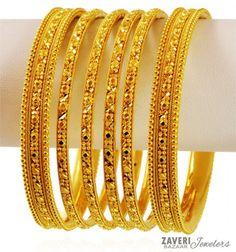 Indian Design Gold Bangles Set