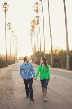 An engagement session in downtown Los Angeles and Elysian Park at sunset // photos by Julie Shuford Photography: http://www.julieshuford.com || see more on http://www.artfullywed.com