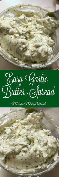 Easy Garlic Butter Spread Recipe – Easily transform butter into garlic butter with this super easy recipe. So much better than store bought! Source by mariasmixingbowl Garlic Butter Spread, Homemade Garlic Butter, Herb Butter, Garlic Spread Recipe Easy, Garlic Bread Butter, Popular Recipes, Great Recipes, Favorite Recipes, Amazing Recipes