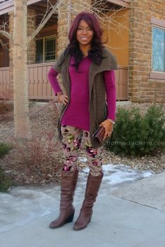 Floral Printed Leggings from Jane.com #veryjane // Valerie: Charmed Valerie Blog