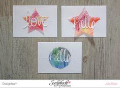 Inspirationsgalerie Karten Werkstatt - Leuchtende-Grusskarten-mit-Aquarellfarben-gestalten von Julia
