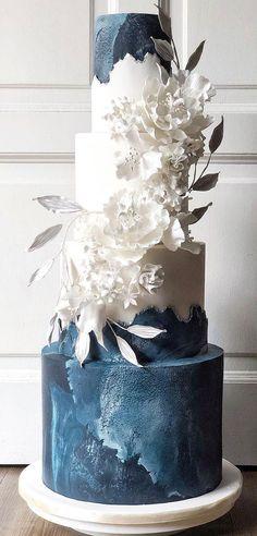 4 Tier Wedding Cake, Wedding Cake Cookies, Wedding Cake Photos, White Wedding Cakes, Elegant Wedding Cakes, Beautiful Wedding Cakes, Wedding Cake Designs, Perfect Wedding, Dream Wedding