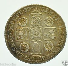 RARE 1739 SIXPENCE O OVER R IN GEORGIVS BRITISH SILVER COIN FROM GEORGE II VF