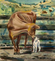 Lee Blair (1911-1993) - Adopting the Lamb