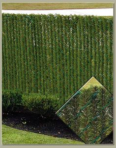 HedgeLink Slats HedgeLink™ slats create a natural hedge look on chain link fence with no maintenance, water or trimming. Get all of the convince of a chain link fence with the beauty and privacy of a hedge with these foliage chain link fence slats.