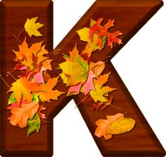 Presentation Alphabets: Cherry Wood Leaves Letter K Fall Fest, Alphabet And Numbers, Alphabet Letters, Happy Fall Y'all, Cellphone Wallpaper, Thanksgiving Decorations, Thanksgiving Ideas, Flower Patterns, Autumn Leaves
