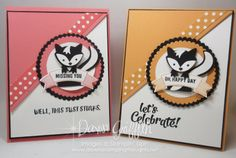 Fox Builder Punch ~ Skunk birthday card video (Dawn's Stamping Thoughts)