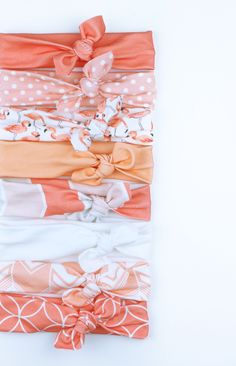 The softest knotted baby headbands out there-- and they won't leave any marks…