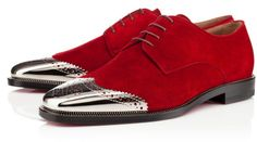 Christian Louboutin Red Gareth Zip Veau Velours - possibly the most sexy shoe out there!