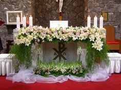Daum 블로그 - 이미지 원본보기 Altar Flowers, Church Flowers, Funeral Flowers, Wedding Flowers, Unique Flower Arrangements, Funeral Flower Arrangements, Unique Flowers, Church Wedding Decorations, Altar Decorations