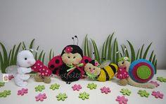 ♥♥♥ No jardim da Joaninha... by sweetfelt \ ideias em feltro, via Flickr