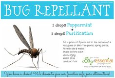 All Natural Bug Repellant using Young Living Essential Oils can add lemongrass for extra tick repellant