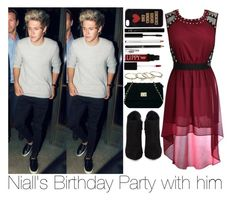 """""""Niall's Birthday Party with him"""" by sassy-queen01 ❤ liked on Polyvore featuring Giuseppe Zanotti, ASOS, Forever 21, Butter London, Wet Seal and topic"""