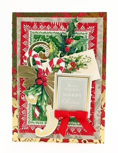 Aug. 2016- Vintage Collage Christmas Toppers