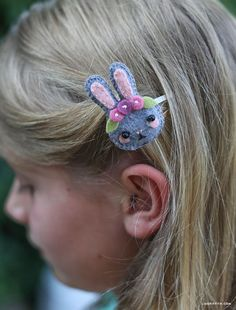 Felt stuffie hairclip, instructions by Lia Griffiths