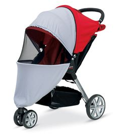 The Britax B-Agile UV Mosquito Net is easy to install and provides full ventilation.