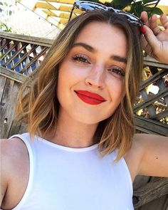 Most Popular Short Red Hair Ombre Shoulder Length Ideas Short Red Hair, Short Hair Styles, Hair Inspo, Hair Inspiration, Eleonore Toulin, Allana Davison, New Hair, Your Hair, Red Ombre Hair
