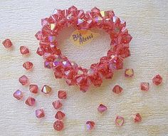 Open Crystal Heart ~ Free Tutorial at beadworkbrasil.bl...