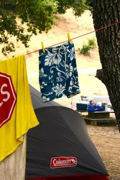 Tips for camping with kids. I like the tips about hair and play tents. camping with kids, kids camping #camping #kids