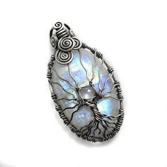 yes please - Rainbow moonstone Tree of Life pendant by DreamingTreesJewelry, $225.00