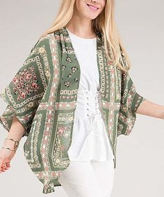 Another great find on #zulily! Grass Floral Shrug - Plus #zulilyfinds