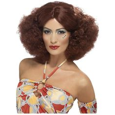 70's Afro Wig Costume Accessory Adult Womens Halloween #Smiffys