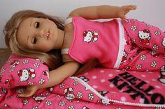 Doll size sleeping bag for a special by GrandmasDollCloset on Etsy
