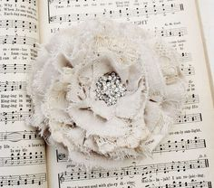 vintage fabric rose