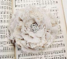 vintage fabric rose