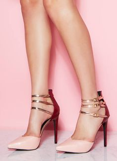 Blush colorblock pumps