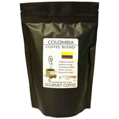 Colombia Coffee A lightly roasted, medium strong Colombian coffee blend. A classic, flavourful coffee with a pleasant flavour. Great coffee for all types of coffee making.