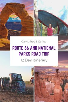 Route 66 and National Parks Road Trip, a itinerary by Campfires & Coffee. Route 66 and National Parks Road Trip, a itinerary by Campfires & Coffee. Old Route 66, Route 66 Road Trip, Historic Route 66, Travel Route, Road Trip Usa, Travel Usa, Driving Route 66, Travel Oklahoma, Gunnison National Park