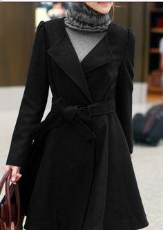 Black wool jacket women coat women jacket women by fashiondress6